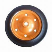 China 13-inch Heavy-duty Solid Rubber Wheel for Wheelbarrow, Tool Cart and Machines on sale