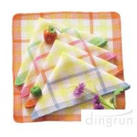 China One Side Soft Cotton Kitchen Tea Towels Multi Functional OEM / ODM Available on sale