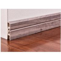 China 7.4cm Interior Decorative  Pvc Skirting Board In Flooring Accessories wholesale