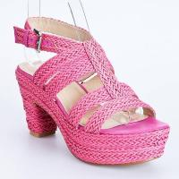 China Knitted high heel sandal 6768-1 on sale