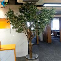 China Customize Size Fake Olive Tree , Wood Trunk Artificial Ornamental Trees on sale