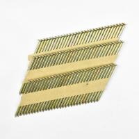 China 28 / 34 Degree 2.8mm*76mm Smooth Shank Galvanized Paper Strip Nails For Building Construction wholesale