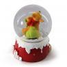 China HO HO HO Reindeer Resin Snow Globe With Drum Bell Berries Seasonal Decor wholesale