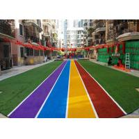 China Runing Track Coloured Artificial Grass Carpets For Landscaping Decoration wholesale