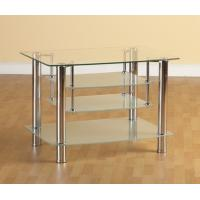 China rectangle tempered glass tv stand xyts-019 wholesale