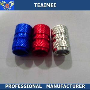 China CE Original Blue Aluminium Car Tyre Valve Caps without logo OEM wholesale