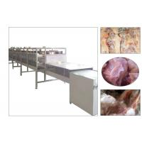 China Automatic Industrial Hot Sale Microwave Meat Thawing Machine Tunnel Type Meat Thawing Machinery Equipment wholesale