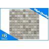 China Honed Square Marble Mosaic Tiles For Kitchen Backsplash / Bathroom Tile Sheet wholesale