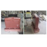 China Red Polished Sketch Granite Memorial Headstones 37.6Mpa Bending Strength wholesale