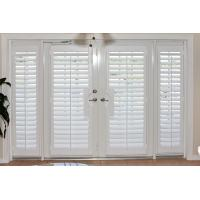 China 100% basswood french door shutters for door and windows with handle wholesale