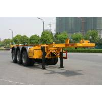 China 20ft Skeletal Or Flatbed Container Trailer Chassis In Truck Semi Trailer on sale