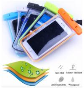 China Heat Seal PVC Waterproof Phone Bag , Luminous Mobile Phone Waterproof Bag wholesale