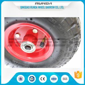 China Inner Tube Pneumatic Rubber Wheels Bent Valves Offset Hub Length 19/20mm Bearomg wholesale