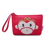 China Funny Animal Travel Small PU Leather Toiletry Bag wholesale