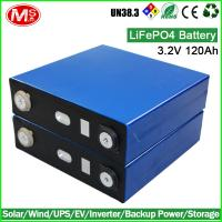 China LiFePO4 battery 3.2V 120AH rechargeable lithium ion battery cell for Solar home energy storage wholesale