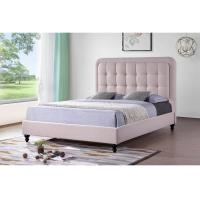 China Pink Hotel Platform Bed With Storage / Kids Twin Platform Bed High Density wholesale