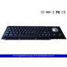 Black Cherry Mechanical Keyswitch Metal Panel Mount Keyboard With Trackball