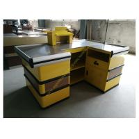 Buy cheap Cosmetic Shop Counter / Supermarket Retail Checkout Counter With Stop Bar from wholesalers