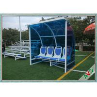 China Stadium Mobile Football Field Equipment Soccer Player Team Bench Seats With Shade wholesale