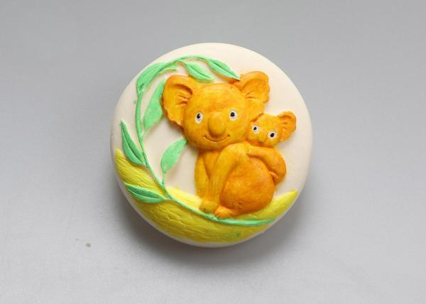 Reusable Microwave Rubber Silicone Molds For Soap Cake Making Koala Shaped
