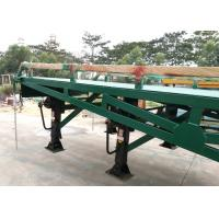 China 4 Legs Container / Truck Mobile Yard Loading Ramp 10 Ton With Hydraulic System wholesale