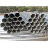 China High Deformability Galvanized Round Pipe Zinc Coating For Liquid Transmission wholesale