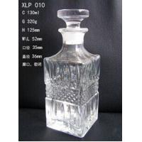 Square glass perfume bottles with crystal cover