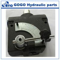 China Seals Variable Flow Control Valve / Carbon Steel Hydraulic Adapter For Hydraulic Equipment on sale