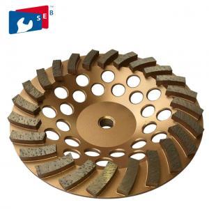 China Terrazzo Grinder Machine Diamond Turbo Cup Wheel With Stable Screw Fix wholesale