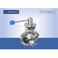 China 4 Manul mixing proof stainless butterfly valve , industrial ss butterfly valve wholesale