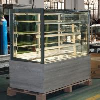 China Square Refrigerated Bakery Display Case Glass Front Showcase For Cold Deli wholesale