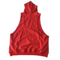 China Custom Mens Plain Racerback Fitness Muscle Gym Bodybuilding Stringer Sleeveless Hoodie wholesale