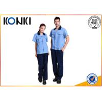 China Custom Polyester / Cotton Fabric Custom Work Uniform For Workers on sale