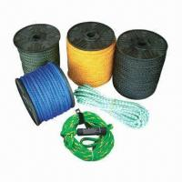 China Hollow Braided Rope, 8 or 16 Strands, PE or PP Mono, 3 to 20mm, Ski Rope, High Tensile wholesale