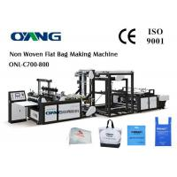 China Multifunctional D - Cut Non Woven Fabric Bag Making Machine With 5 Sets Ultrasonic wholesale