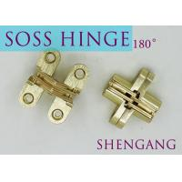 China SOSS Mortise Mount Invisible Concealed Door Hinges With 4 Holes 2-3/4 Leaf Height 5/8 Leaf Width 23/32 on sale