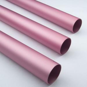 China Pink Anodized / Oxidation Round Aluminium Tube Oxidation Film Above 10 Um wholesale