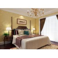 China Gold Foil Floral Pattern Country Bedroom Wallpaper Waterproof for Home Interiors wholesale