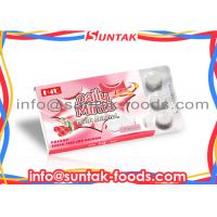 China Custom Round White Functional Candy Multi Mineral Sour Cherry Candy wholesale