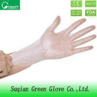 Clear powder free vinyl food gloves DOTP material for industrial XS , S , M
