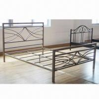 China Queen Size Metal Double Bed Frame, Sized 198 x 146 x 75/95cm wholesale