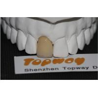Buy cheap Dental Lab 2 Teeth Zirconia Dental Crown , Tooth Cap For Front Teeth from wholesalers