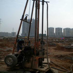 Buy cheap Plataforma de perforación portátil geotécnica del agua del remolque de 2 ruedas con la bomba de fango from wholesalers