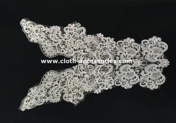 Quality 52CM Insert Cotton Crochet Lace Collar Floral Trimmings SGS / INTERTEK for sale