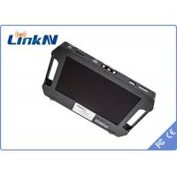 China Battery Powered 4 Hours Outdoor Handheld COFDM Receiver -106dbm Receiving Sensitivity wholesale