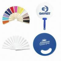 China Promotional Folding Plastic/PE/Paper/Bamboo Wooden Die-cut Hand Fans wholesale