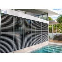 China Customized Aluminum Louver Window Robust Construction Vinyl Window Shutters wholesale