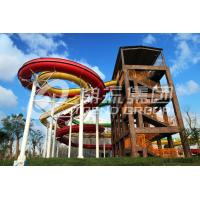 China Funny Strong Visual Big Water Slides For Big Outdoor Resort Spiral Water Park on sale