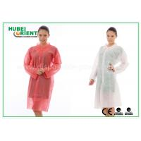 China PP Disposable Lab Coats , custom disposable lab gowns Protective with Snap wholesale