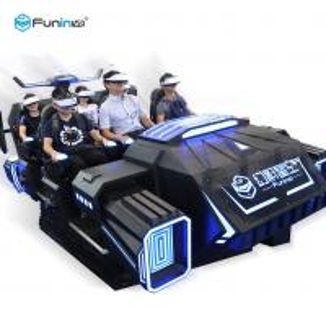 China Sheet Metal 9D Cinema Simulator 6 Seater Virtual Reality Roller Coaster For Entertainment wholesale